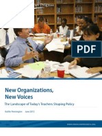 New Organizations, New Voices