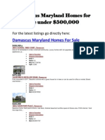 All Damascus Maryland Homes for Sale Under 500K