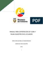 Manual Exportaciones Flora y Fauna