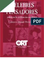 Celebres Pensadores Judios en La Civilizacion Occidental Texto Judio Gustavo Daniel Perednik