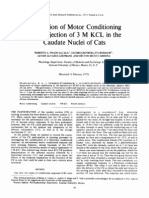 Suppression of Motor Conditioning by the Injection of 3 M KCL in the Caudate Nuclei of Cats