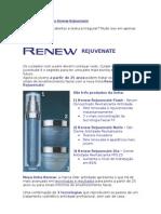 Lançamento Avon Renew Rejuvenate