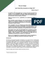 La UNED que Costa Rica necesita para el siglo XXI, Marlene Víquez y su Plan de Trabajo 2010-2014