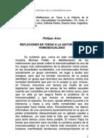 Philippe Ariès - Reflexiones en Torno a la Historia de la Homosexualidad