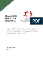 Evaluacion Educativa Funcional-ADEFAV