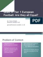 Goals in Tier 1 European Football