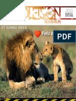 Boletín Juventud Sión 17 de Junio de 2013