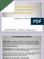 CURSO DE DIDÁTICA PARA TREINAMENTOS CORPORATIVOS
