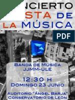 PROGRAMA BANDA DE MÚSICA JJMM-ULE FIESTA DE LA MÚSICA 2013