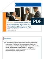 0506 SAP BusinessObjects Business Intelligence 40 Installation Deployment Tips