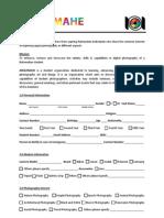 ARQUIMAHE Registration Form