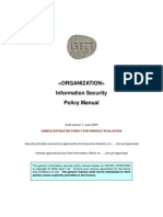 IsecT Infosec Policy Manual SAMPLE v7