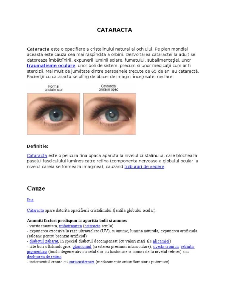 prognostic pentru vederea cataractei)