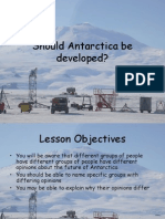 Antarctic A Be Developed