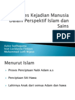 Proses Kejadian Manusia Menurut Dalam Perspektif Islam Dan