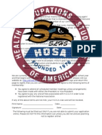 HOSA Registration Packet