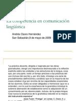 La competencia en comunicación lingüística