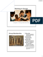 Working in Groups Chapter 3