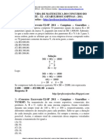 Prova Resolvida - Escrevente 2011- Campinas e Guarulhos.