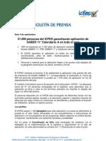 Boletin de Prensa - Saber 11 Calendario A