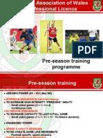 Wales Pre-season Training Plan