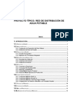 Proyecto Típico Red de Distribucion de Agua Potable