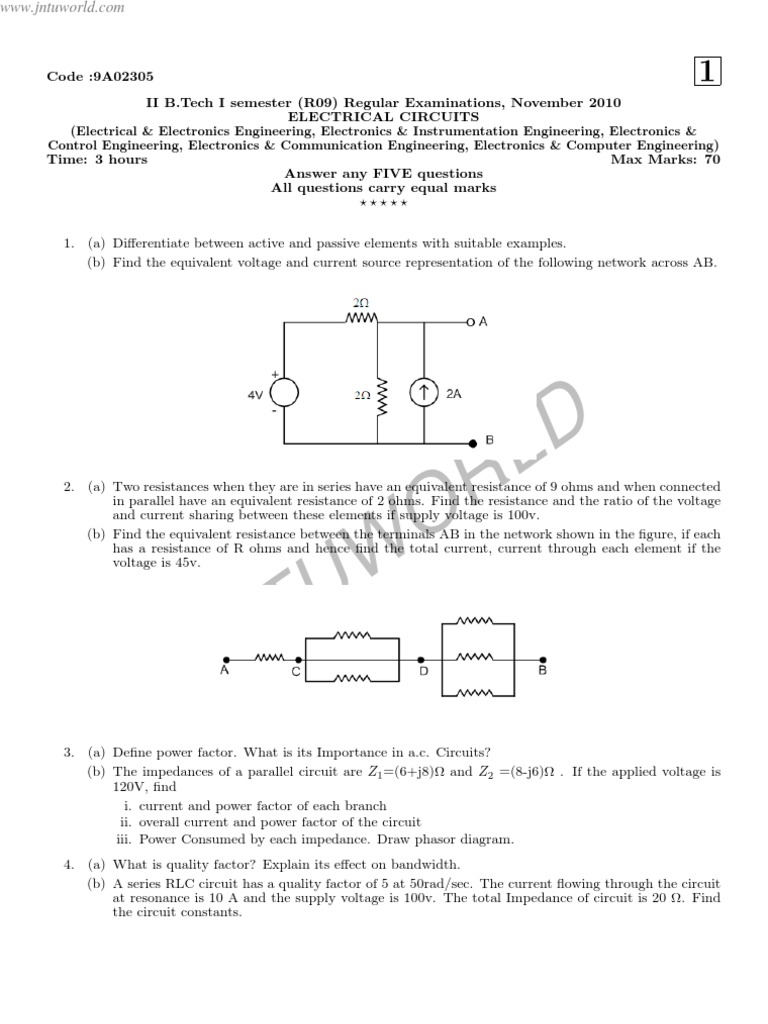 Electrical Circuits Syllabus Series And Parallel Voltage In Impedance