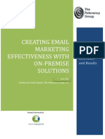Creating Email Mkt Effectiveness on Premise Solutions