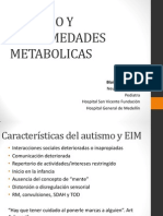 Autismo y Enfermedades Metabolicas