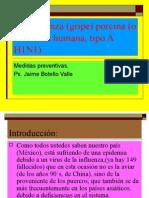 La Influenza Humana Tipo a H1N1. Ps. Jaime Botello Valle