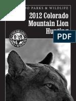 Colorado Mountain Lion Hunting