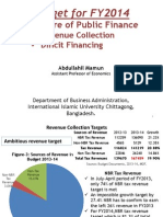 Budget for FY2014- Structure of Public Finance- Revenue Collection and Deficit Financing
