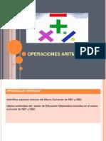 OPERACIÓNES ARITMÉTICAS- 1