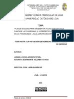Plan de Negocios Para Implementar Tecnologia Uht en Ecolac