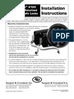 S&G 6120 Safe Lock Installation Instructions