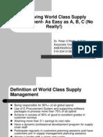 World Class Supply Mgmt