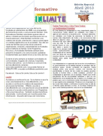 Boletin Informativo Educasinlimite Mes Abril 2013