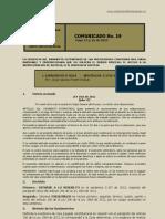 No. 19 Comunicado 15 y 16 de Mayo de 2013