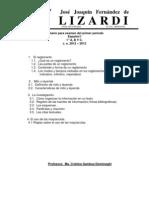 Temario Para El Examen de Espanol de 1ero a b y c. Del 1er Periodo.c.e. 2012 2013