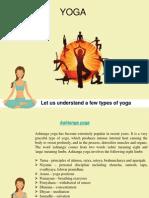 A few types of yoga