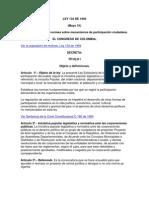 LEY 134 de 1994 Mecanismos Participacion Ciudadana (Ley Inic)