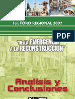 Conclusiones Foro Regional 2008 Ica