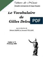 LES CAHIERS DE NOESIS - CAHIER N°3 ~ Printemps 2003 - LE VOCABULAIRE DE GILLES DELEUZE (sous la direction de Robert Sasso et Arnaud Villani] (2)