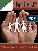 Islamic Family Life - Allamah Sayyid Saeed Akhtar Rizvi - XKP