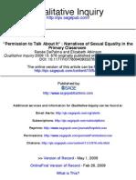 Qualitative Inquiry 2009 DePalma 876 92