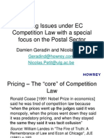 Pricing Issues Under Ec Competition Law From