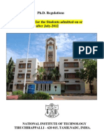Nit PhD Regulations