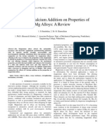 Effects of Calcium Addition on Properties of
