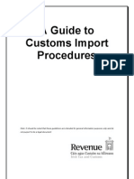 Import Procedures Guide