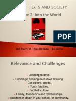 hsc english standard tom brennan essay tom brennan slide summary